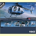 Helicoptero HUGHES 500 D POLICE - Academy - 1/48
