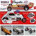 Double Dragster KIT - 2 Kits AMT - 1/25