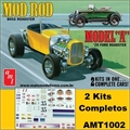 1929 - Ford Model A Roadster - 2 Kits AMT - 1/25
