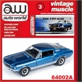 1967 - Ford MUSTANG GT Azul - Auto World - 1/64
