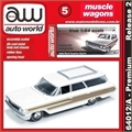 1964 - Ford COUNTRY Squire Branco - Auto World - 1/64