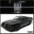 BLACK BANDIT  6 - 1980 Pontiac Firebird TTA - Greenlight - 1/64