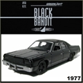 BLACK BANDIT  6 - 1977 Dodge Royal Monaco - Greenlight - 1/64