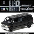 BLACK BANDIT  7 - 1976 DODGE B-100 VAN - Greenlight - 1/64