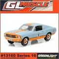 GLMUSCLE 16 - 1967 Ford MUSTANG GULF OIL - Greenlight - 1/64