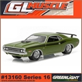 GLMUSCLE 16 - 1971 Dodge CHALLENGER R/T - Greenlight - 1/64