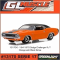 GLMUSCLE 17 - 1970 Dodge CHALLENGER R/T Laranja - Greenlight - 1/64