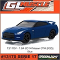 GLMUSCLE 17 - 2014 Nissan GT-R (R35) Azul - Greenlight - 1/64
