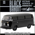 BLACK BANDIT 14 - 1978 Volkswagen Kombi - Greenlight - 1/64