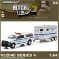 2014 Dodge RAM 1500 and Horse Trailer NYPD - Greenlight Hitch and Tow - 1/64