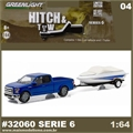 2015 Ford F-150 and Boat with Trailer - Greenlight Hitch and Tow - 1/64