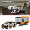 2015 Ford F-150 Gulf Oil no. 68 and Trailer - Greenlight Hitch and Tow - 1/64