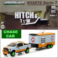 2015 Ford F-150 Gulf Oil no. 68 and Trailer CHASE CAR - Greenlight - 1/64