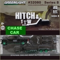 2016 RAM 2500 and Car Hauler CHASE CAR - Greenlight Hitch and Tow - 1/64