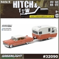 1955 Cadillac Fleetwood Series 60 and Shasta - Greenlight Hitch and Tow - 1/64