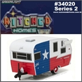 SHASTA 15 Airflyte Trailer Texas - Greenlight - 1/64