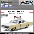 HP 18 - 1967 Ford Custom PHOENIX Police - Greenlight - 1/64