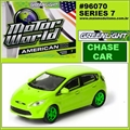 MW  7 - Ford Fiesta Verde CHASE CAR - Greenlight - 1/64
