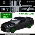 BLACK BANDIT  8 - 2012 Ford SHELBY GT500 CHASE CAR - Greenlight - 1/64
