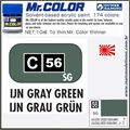 Tinta Gunze Acrílica Mr Color C 56 IJN GRAY GREEN - 10ml