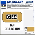 Tinta Gunze Acrílica Mr Color C 44 TAN Semi-Brilho - 10ml