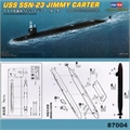 Submarino USS SSN-23 JIMMY CARTER - Hobby Boss - 1/700