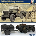 WILLYS MB JEEP with Trailer - Italeri - 1/35