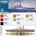 German Cruiser SCHEER - Italeri - 1/720
