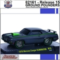 1970 - Mercury Cougar ELIMINATOR R15 Preto - M2 Machines - 1/64