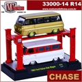 1965 - Ford FALCON Club Wagon CHASE (2X) R14 - AUTO-LIFT M2M - 1/64