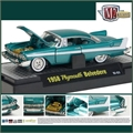 1958 - PLYMOUTH BELVEDERE TURQUESA - M2M - 1/64