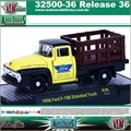 1956 - Ford F-100 Stakebed R36 Amarelo - M2 Auto-Trucks - 1/64