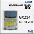 Tinta Gunze  Mr Metallic Color GX-214 Prata Gelo Metálico - 18ml