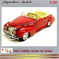 1940 - CADILLAC Series 62 Sedan Vermellho - Signature - 1/32
