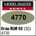 Tinta Model Master 4770 Acryl CINZA RLM-02 Semi-Brilho - 14,7ml