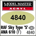 Tinta Model Master 4840 Acryl RAF SKY TYPE S ANA 610 Fosco - 14,7ml