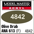 Tinta Model Master 4842 Acryl OLIVE DRAB ANA 613 Fosco - 14,7ml