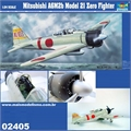 Mitsubishi A6M2b MODEL 21 ZERO Fighter - Trumpeter - 1/24
