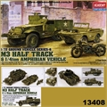 M3 Half Track and 1/4 ton Amphibian Vehicle - Academy - 1/72