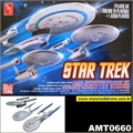 STAR TREK - USS ENTERPRISE Starship Set - 3 Kits AMT - 1/2500