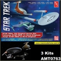 STAR TREK - The Original Series Set - 3 Kits AMT - 1/2500