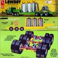 Carreta LOWBOY Drop Deck Lowbed Trailer - AMT - 1/25