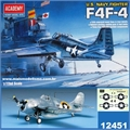 F 4F-4 WILDCAT - US Navy Fighter - Academy - 1/72