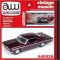 1966 - Chevy IMPALA SS Vinho - Auto World - 1/64