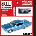 1966 - Chevy IMPALA SS Azul - Auto World - 1/64
