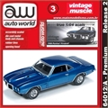 1969 - Pontiac FIREBIRD Azul - Auto World - 1/64
