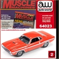 1970 - Dodge CHALLENGER R/T Laranja - Auto World - 1/64