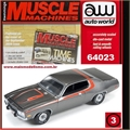 1973 - PLYMOUTH Road Runner Cinza - Auto World - 1/64