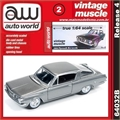 1964 - Plymouth BARRACUDA Cinza - Auto World - 1/64