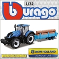 Trator New Holland - Bburago - 1/32